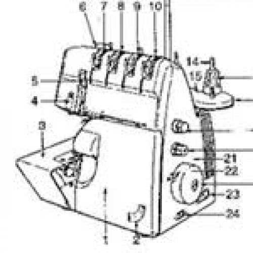 singer 14sh754 overlocker instructions