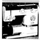Universeel type zigzag naaimachine met vrije arm (NL,FR)